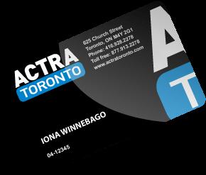 ACTRA Toronto membership card