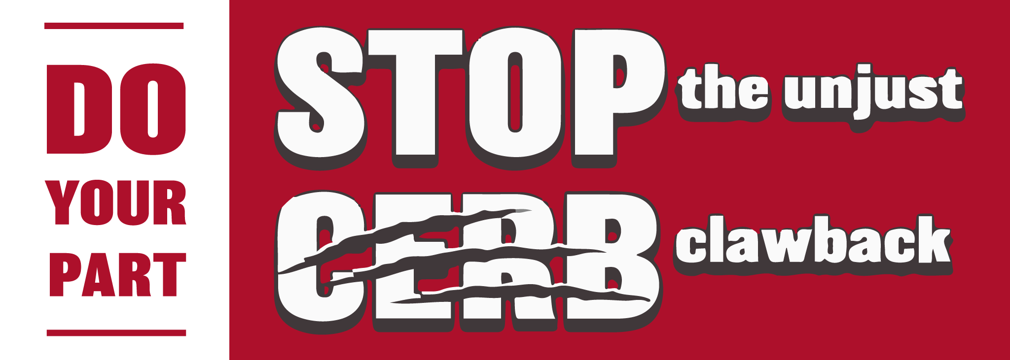 Stop the CERB Clawback banner illustration